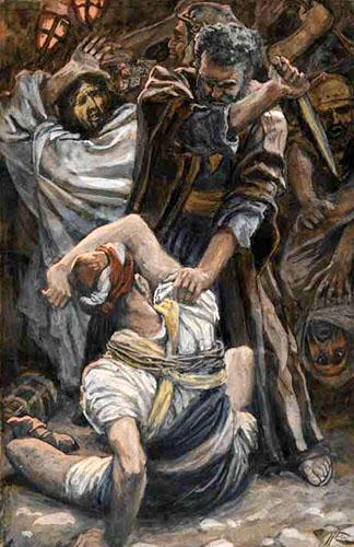 Peter defending Jesus
